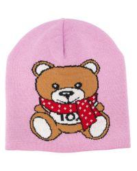 Шапка Бини Teddy Bear Moschino, цвет: Pink
