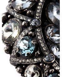 Lanvin Metallic Moon Pendant Necklace