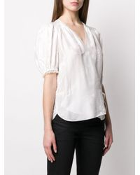 Zadig & Voltaire White Short-sleeve Wrap Blouse