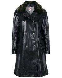 Shrimps | Blue Sinclaur Faux Leather Coat | Lyst