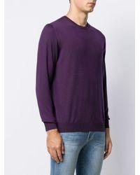 メンズ Drumohr クルーネック プルオーバー Purple