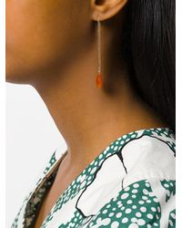 Uzerai Edits Metallic Red Agate Pull-through Earring
