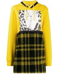 Sudadera con capucha y diseño patchwork Gina de color Yellow