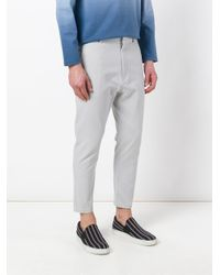 Jil Sander - Gray Dropped Crotch Trousers for Men - Lyst