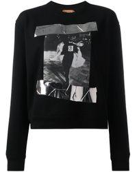 N°21 プリント スウェットシャツ Black