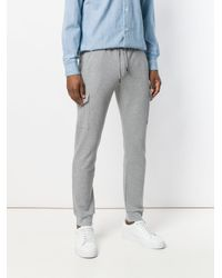 Eleventy Gray Slim Elasticated Waist Trousers for men