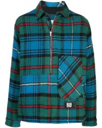 we11done Blue Checked Pullover Jacket