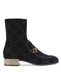 Gucci グッチ ヨルダーン GG ブーツ Black