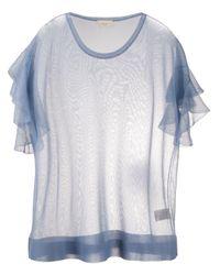 T-shirt con ruches di Altea in Blue