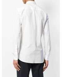 Givenchy White Long-sleeve Fitted Shirt for men