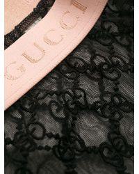 Gucci GG レース ランジェリー セットアップ Black