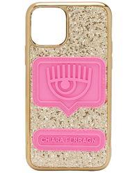 Чехол Eyelike Для Iphone 11 Pro С Блестками Chiara Ferragni, цвет: Metallic