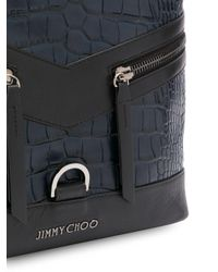 Jimmy Choo Rucksack mit Kroko-Optik in Blue für Herren