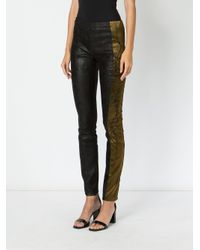 Haider Ackermann Black Embroidered Side Trousers