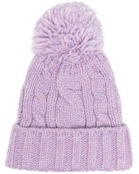 SuperDuper Hats Purple Chunky Knitted Beanie for men