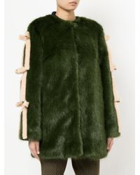 Shrimps - Green Elsie Faux Fur Coat - Lyst