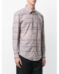 Vivienne Westwood Pink Shirt With Scribble Pattern for men
