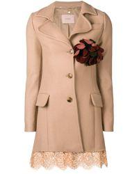 Twin Set Natural Lace Trim Coat