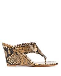 Sandalias con efecto de piel de serpiente Maryam Nassir Zadeh de color Brown
