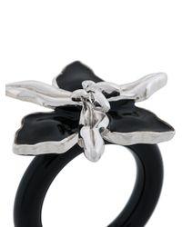 Marni   Black Floral Enamelled Ring   Lyst