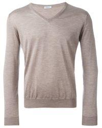 Fashion Clinic Gray V-neck Sweater for men