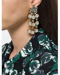Ca&Lou - Metallic Crystal Embellished Earring - Lyst