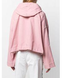 Veste crop à capuche N°21 en coloris Pink