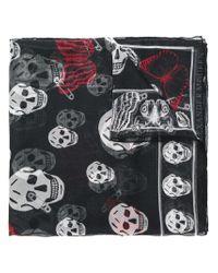 Alexander McQueen - Black Classic Skull Scarf - Lyst