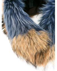 Mr & Mrs Italy Blue Fur Collar