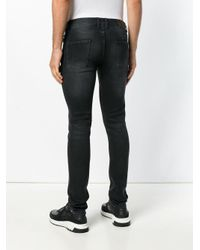Les Hommes - Black Slim-fit Jeans for Men - Lyst