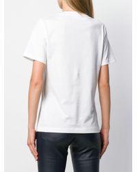Ferragamo ロゴプリント コットンジャージーtシャツ White