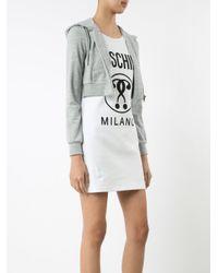 Moschino White Hoodie Logo Dress