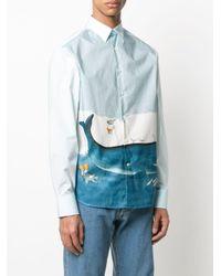 メンズ Lanvin Babar プリントシャツ Blue
