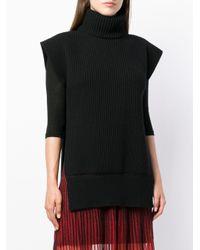 Трикотажный Топ С Высокой Горловиной Alexander McQueen, цвет: Black