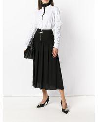 Falda con cremallera en el frente Givenchy de color Black