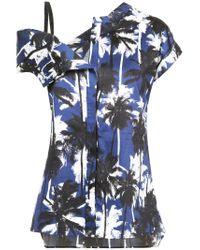 Jason Wu - Blue Palm Print Asymmetric Top - Lyst