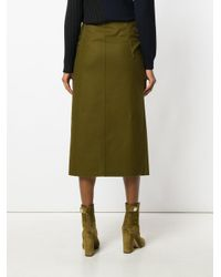Masnada Green Drawstring Wrap Skirt