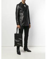 Классическая Сумка-тоут Saint Laurent для него, цвет: Black