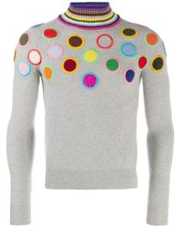 Walter Van Beirendonck Pre-Owned Gray 2010/11's Take A W-ride Circle Embroidery Jumper for men