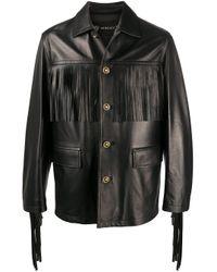 Versace Black Fringed Jacket for men