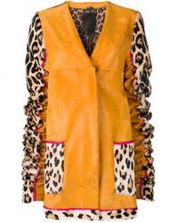 Cappotto con stampa di Liska in Orange