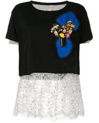 Antonio Marras フローラル Tシャツ Black
