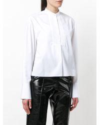 Jil Sander White Classic Collarless Shirt