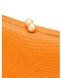 Соломенный Клатч Serpui, цвет: Orange