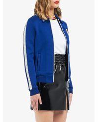Zipped logo jacket Miu Miu de color Blue