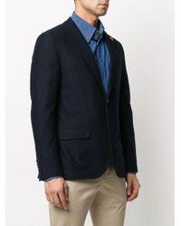 メンズ Lardini シングルジャケット Blue