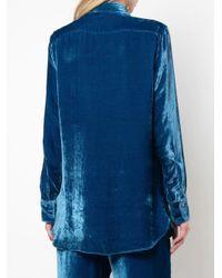 Sies Marjan ベルベットシャツ Blue