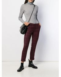 Pantalones con motivo de cuadros Liu Jo de color Red