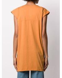 Rick Owens Drkshdw パワーショルダー Tシャツ Orange