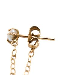 Melissa Joy Manning - Metallic 14kt Gold Pearl Chain Earrings - Lyst